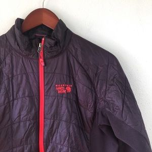 Mountain Hardware Plum Insulated Packable Jacket
